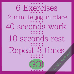 17 minute workout