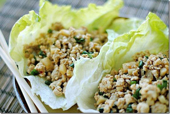 asian lettuce wrap - low carb, low calorie snack ideas - womensdietnetwork.com