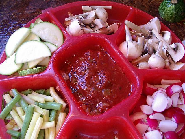 salsa & veggies