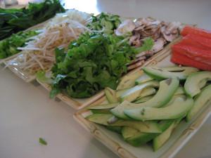 fresh Vietnamese spring rolls