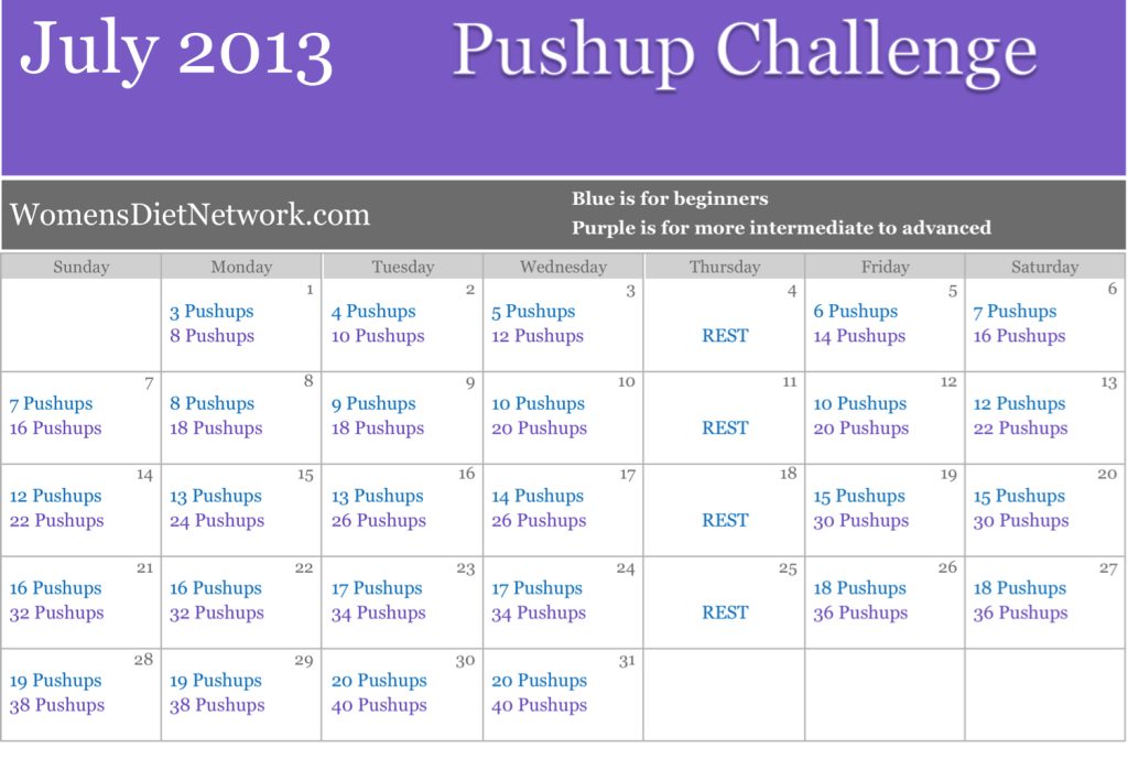 WDN July Pushup
