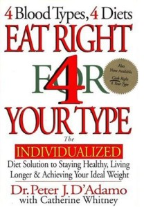 bloodtype diet book - eat right for your type