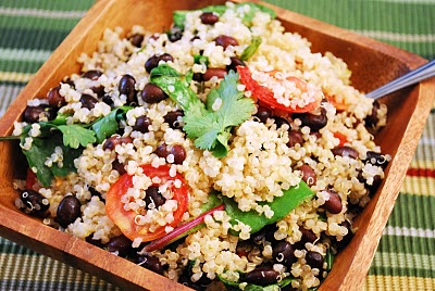 Black bean and Tomato Quinoa Salad | womensdietnetwork